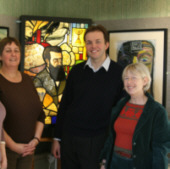 Forty Hall with David Burrowes MP, Museum Officer Jan Metcalfe and friend, Jan 2008
